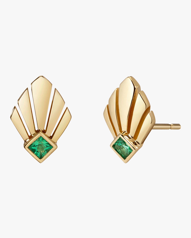 Selin Kent Josephine Emerald Stud Earrings 2