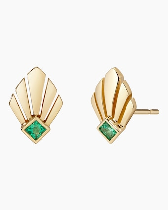 Josephine Emerald Stud Earrings