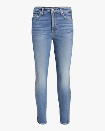 7 For All Mankind Luxe Vintage High Waist Ankle Skinny Jean 1