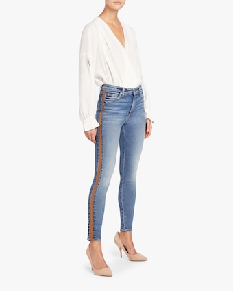 7 For All Mankind Luxe Vintage High Waist Ankle Skinny Jean 2