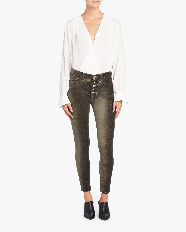 7 For All Mankind High Waist Velvet Ankle Skinny Jean 1
