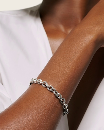 Classic Chain Knife Edge Link Bracelet