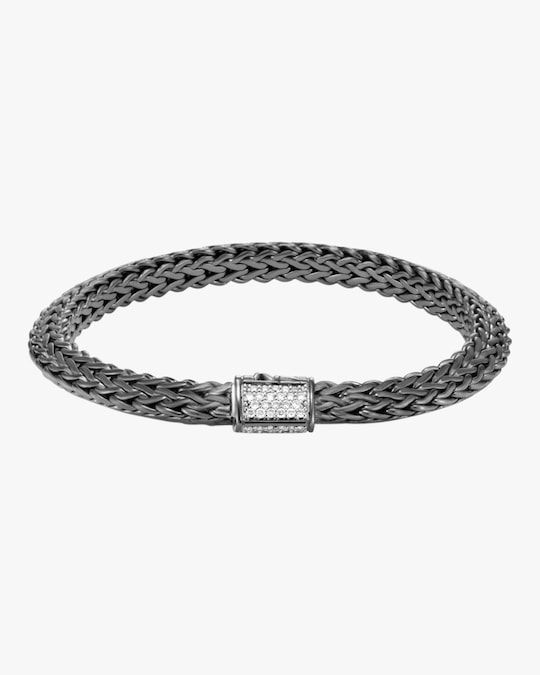 John Hardy Classic Chain Tiga Blackened Diamond Chain Bracelet 0