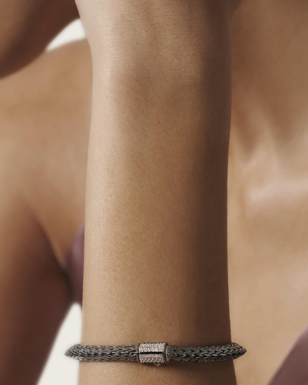Classic Chain Tiga Blackened Diamond Chain Bracelet