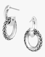 John Hardy Classic Chain Knife Edge Door Knocker Earrings 2
