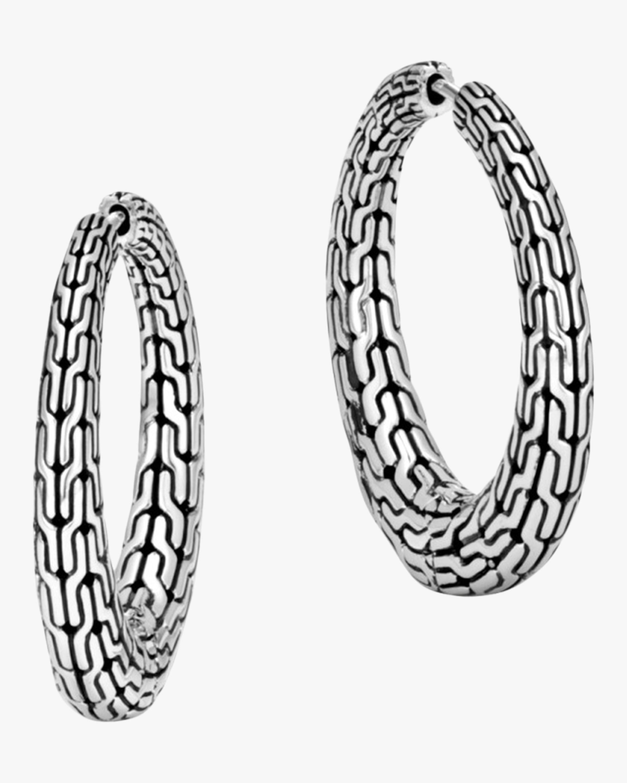 John Hardy Classic Chain Graduated Small Hoop Earrings 0