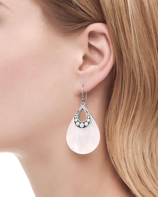 John Hardy The Dot Mother-Of-Pearl Drop Earrings 1