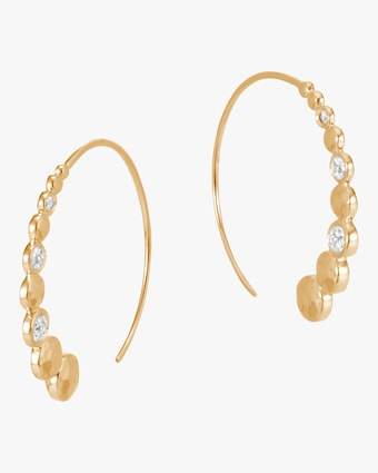 The Dot Hammered Small Hoop Earrings