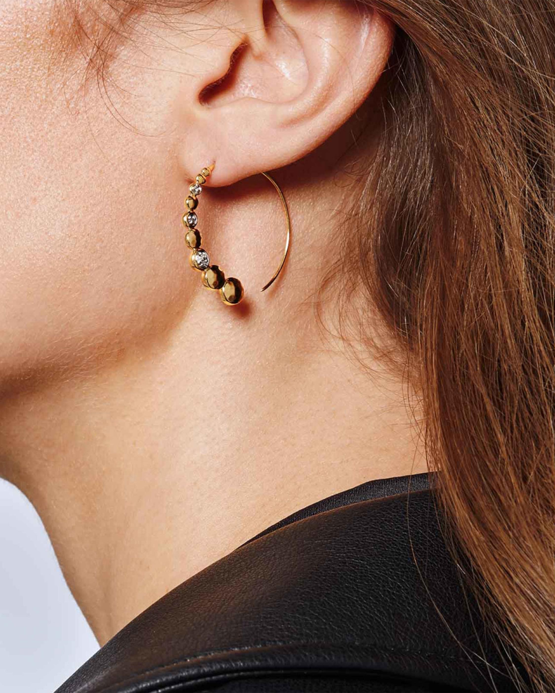 John Hardy The Dot Hammered Small Hoop Earrings 1