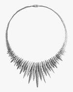 John Hardy Classic Chain Spear Hammered Bib Necklace 0