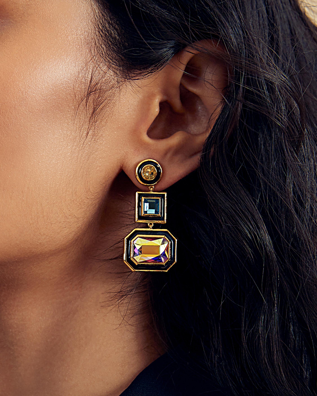 Glitter on the Go Swarovski Drop Earrings