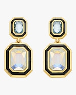 Isharya Glitter on the Go Swarovski Duo Stone Drop Earrings 0
