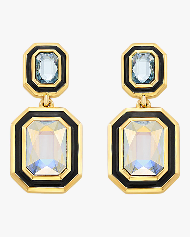 Glitter on the Go Swarovski Duo Stone Drop Earrings