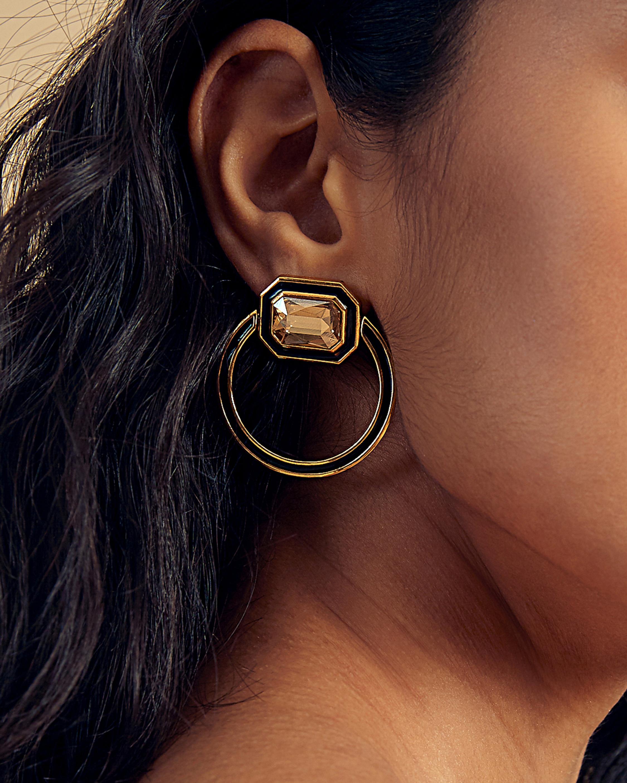 Isharya Glitter on the Go Shadow Loop Earrings 1