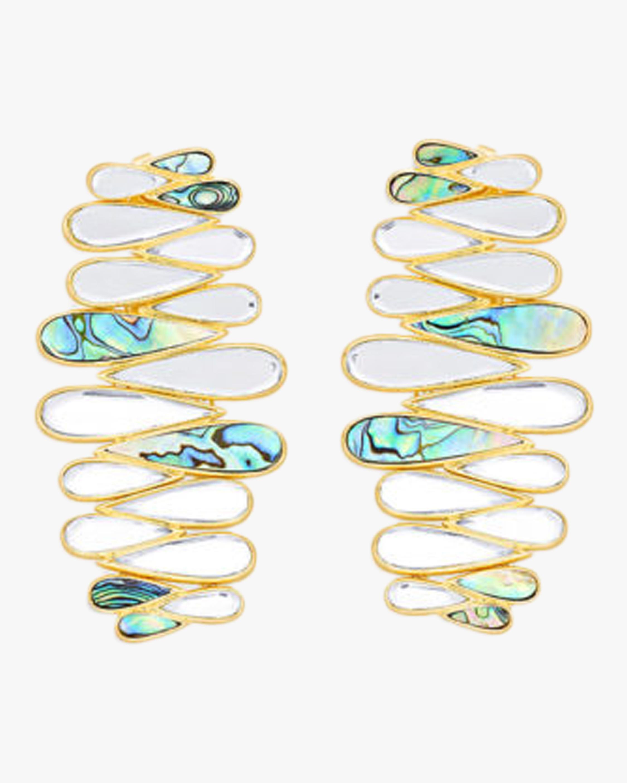 Demi Goddess Mother of Pearl Cascading Earrings