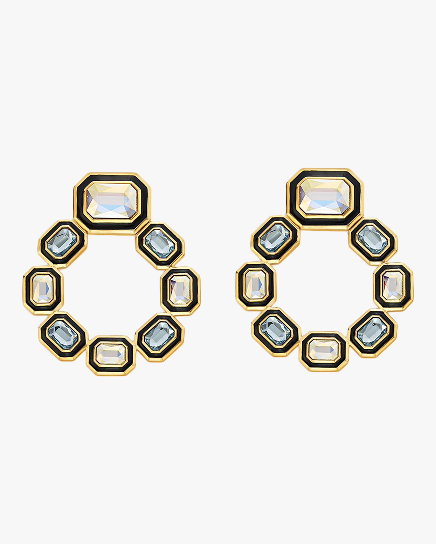 Isharya Glitter on the Go Grecian Hoop Earrings 0