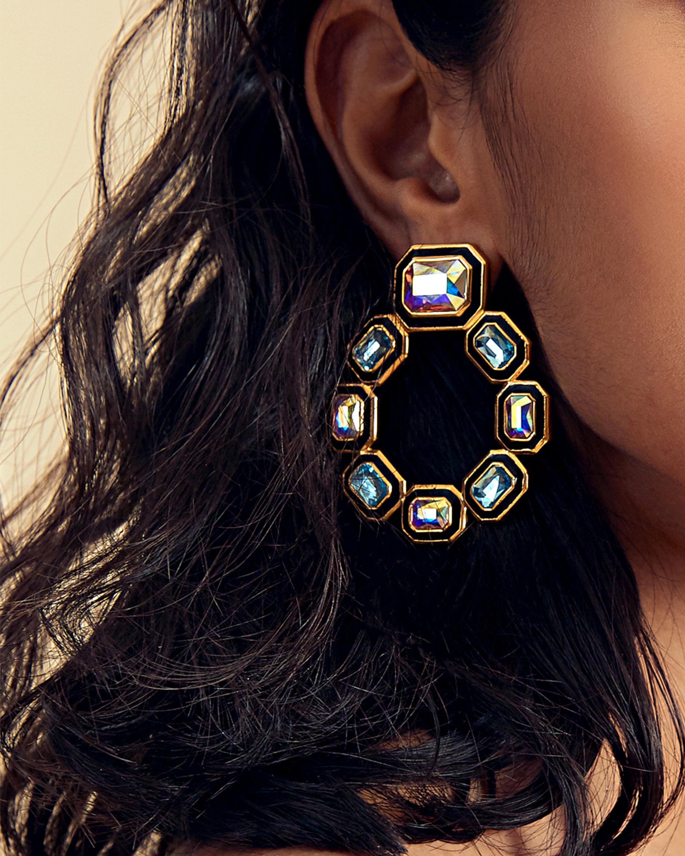 Isharya Glitter on the Go Grecian Hoop Earrings 1