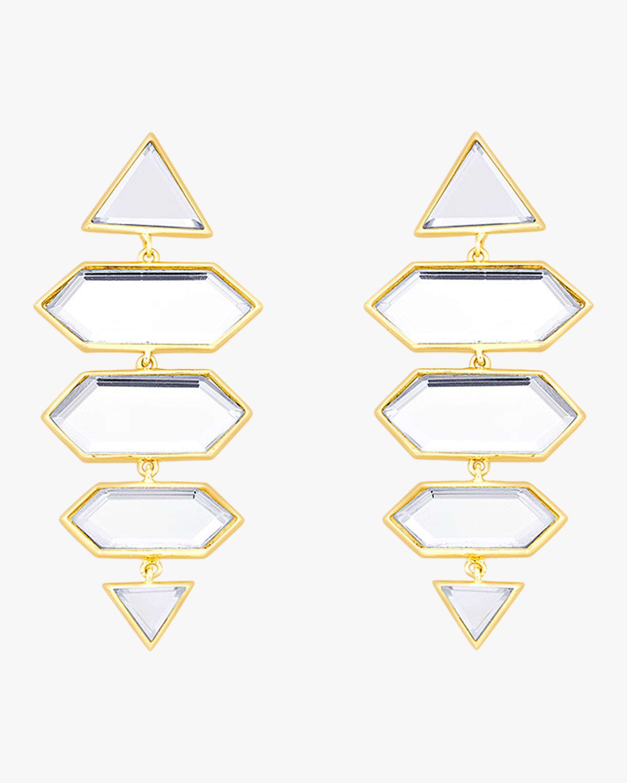 Demi Goddess Dazzle Mirror Earrings