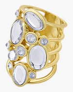 Isharya Limelight Cluster Of Mirrors Statement Ring 0