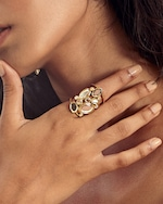 Isharya Limelight Cluster Of Mirrors Statement Ring 1