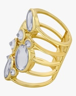 Isharya Limelight Cluster Of Mirrors Statement Ring 2