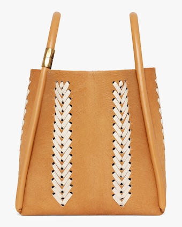 Lotus 28 Whipstitch Wheat Handbag