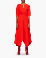 Dorothee Schumacher Sophisticated Perfection Draped Dress 0