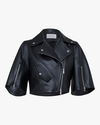 Modern Volumes Leather Jacket