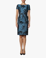 Zac Posen Short Sleeve Cocktail Dress 0