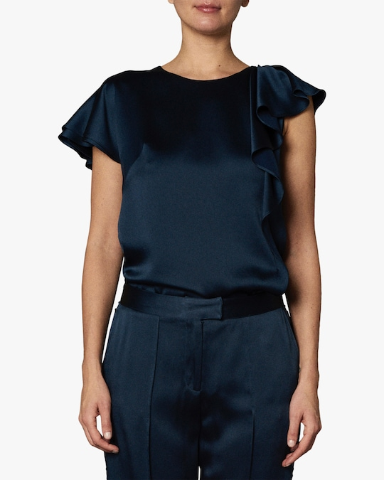 Zac Posen Asymmetric Ruffle Top 0