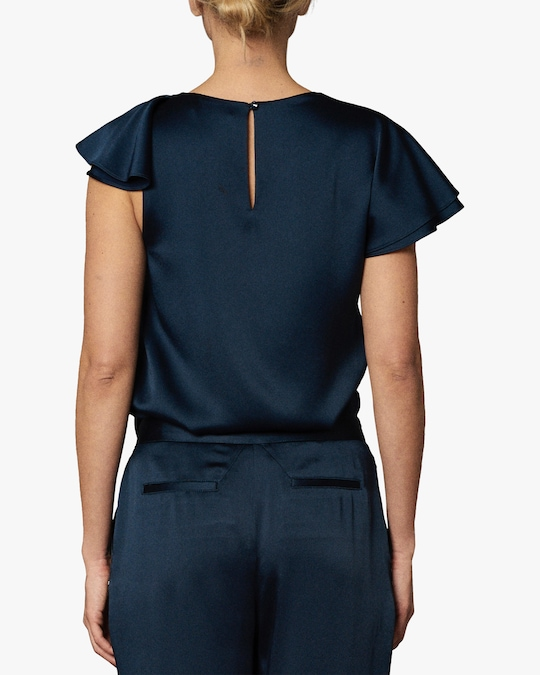 Zac Posen Asymmetric Ruffle Top 1