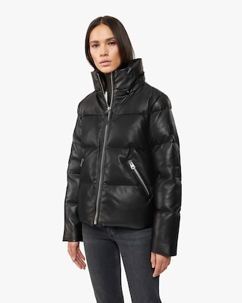 Tory Leather Puffer Coat