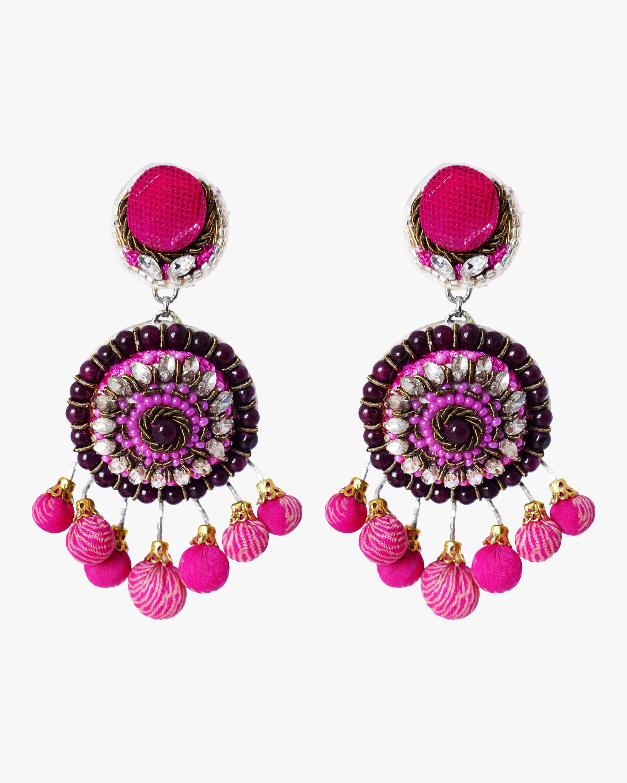 Ranjana Khan Pom Pom Clip-On Earrings 0