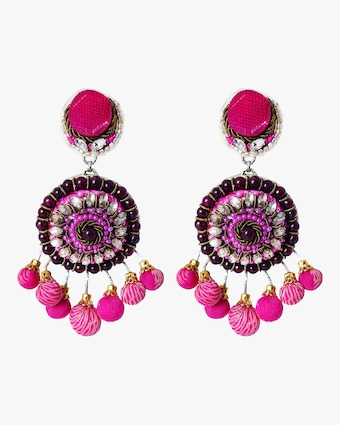 Pom Pom Clip-On Earrings