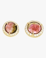 IO Collective Georgia Pink Tourmaline Studs 0