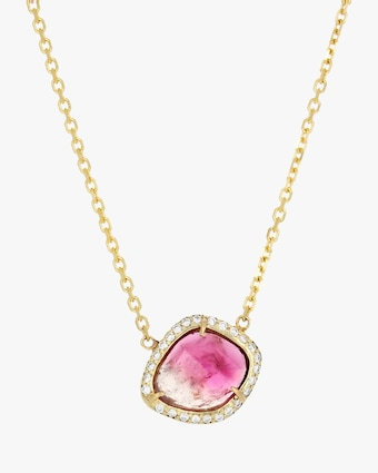 IO Collective Gisele Bi-Color Pink Tourmaline Necklace 1