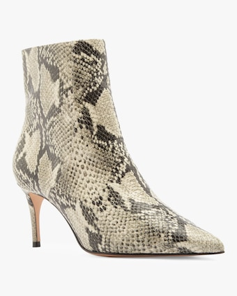 Schutz Bette Snake Embossed Ankle Boot 1
