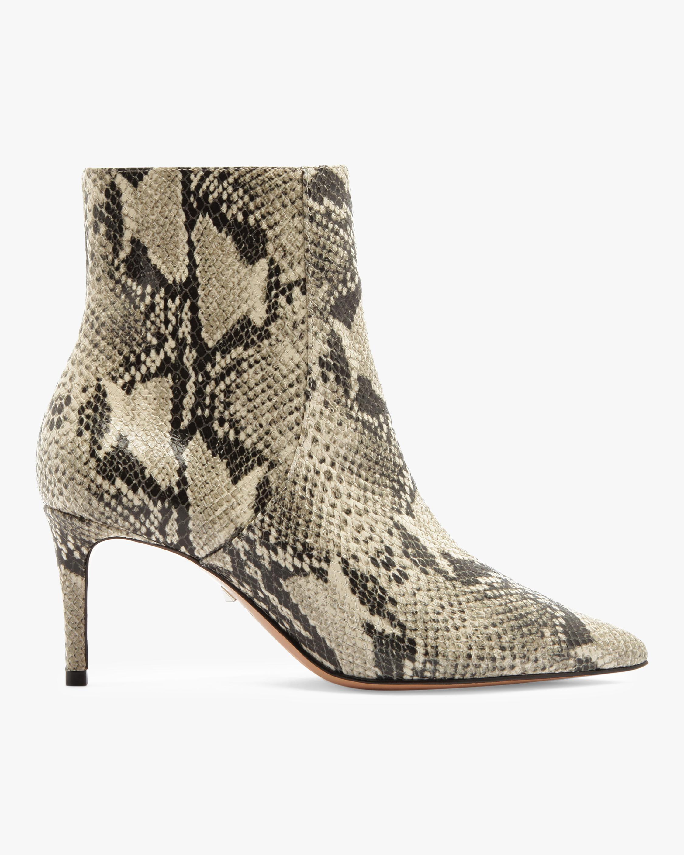 Schutz Bette Snake Embossed Ankle Boot 1