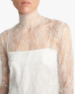 Adam Lippes Chantilly Lace Turtleneck & Cami Set 4