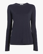 Adam Lippes Long-Sleeve Crewneck Shirt 0