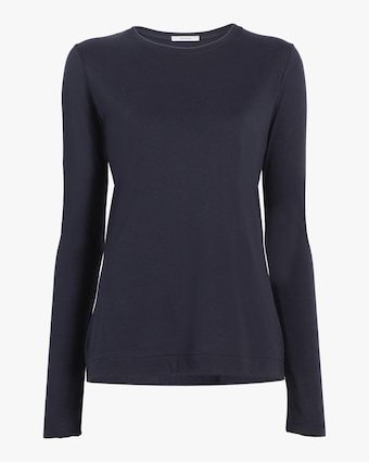 Adam Lippes Long-Sleeve Crewneck Shirt 1