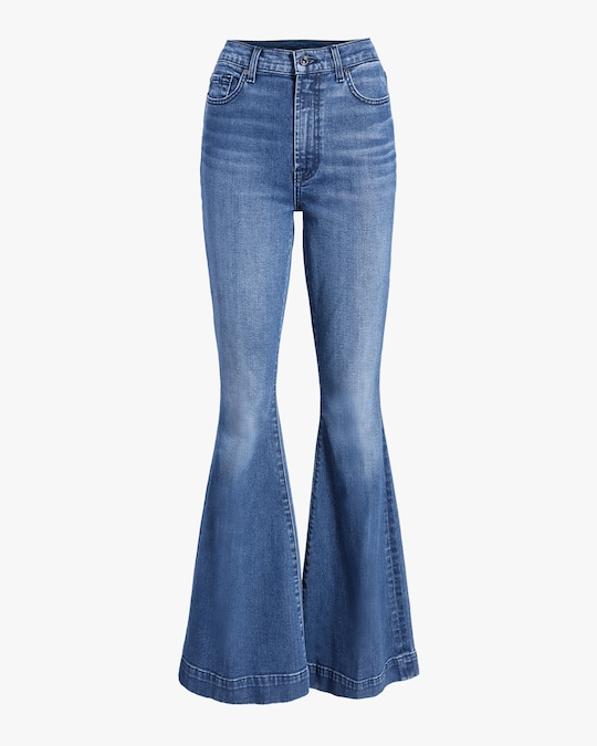 7 For All Mankind Mega Flare Jeans 0