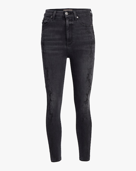 7 For All Mankind Aubrey Snake Jeans 0