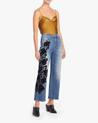 Alexa Lace Cropped Jeans