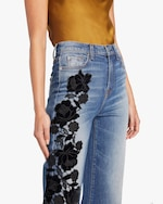 7 For All Mankind Alexa Lace Cropped Jeans 3