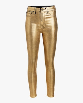 Liquid Gold High-Waisted Skinny Jeans