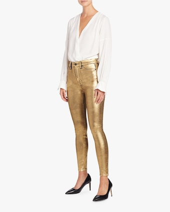 7 For All Mankind Liquid Gold High-Waisted Skinny Jeans 2