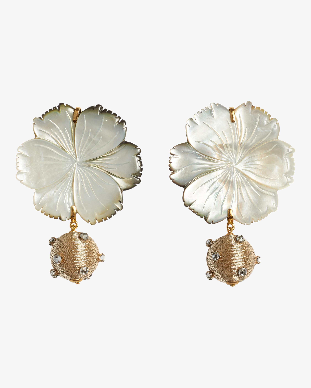 Lizzie Fortunato Pearl Blossom Earrings 0
