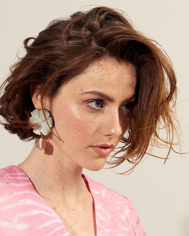 Lizzie Fortunato Pearl Blossom Earrings 1