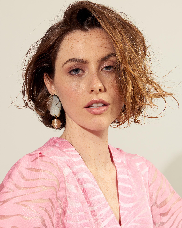 Lizzie Fortunato Pearl Blossom Earrings 2